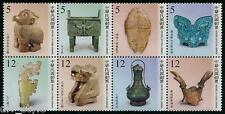 Ancient Artifacts The Ruins of Yin block of 8 stamps mnh 2014 Taiwan #4213