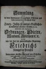 Sammlung aller Ordnungen im Herzogthum Schlesien - Breslau 1744