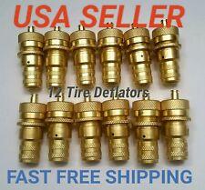 12 Automatic Tire Deflator 6-30 PSI Adjustable Brass INSTRUCTIONS & CASE