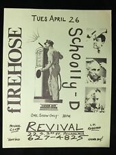 ORIGINAL CONCERT FLYER-SCHOOLLY-D FIREHOSE-Revival Philly 1980s