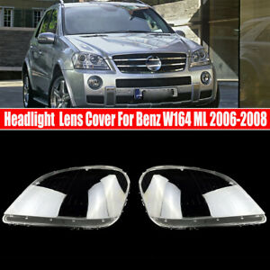 Front Headlight Lens Cover For Mercedes Benz W164 ML-Class ML350 ML500 2006-2008