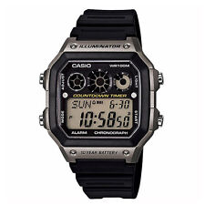 Casio Watch AE-1200/1300/1400WHD-1AV 10-Year Battery World Time Men Japan Movt