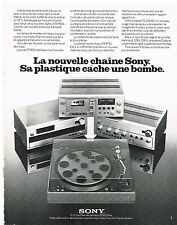 PUBLICITE  1976   SONY   hi-fi  chaine