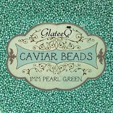 GlateeQ 20g Pearl Green 1mm Caviar Beads Craft, Nail Art & Ciate Style Manicure