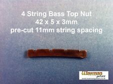Black Bass guitar Top Nut / Bridge 42 x 5 x 3 mm - UK SUPPLIER