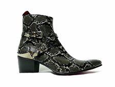 Jeffery-West VEGAN MUSE Sylvian 'DAMAGED' Faux leather Snake effect Zip boot