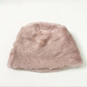 Nine West Hat in Faux Fur Cuff Cloche Hat in Pink New with Tags #317