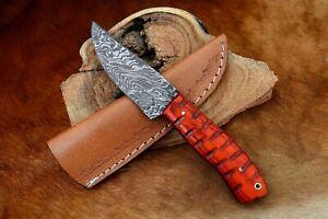 MH KNIVES CUSTOM HANDMADE DAMASCUS STEEL FULL TANG HUNTING/SKINNER KNIFE D-31X