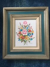 Art - canvas - framed - Beautiful Flowers - Vibrant Colors MAKE OFFER No Reserve