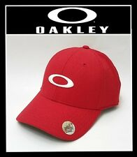 OAKLEY GOLF ELLIPSE HAT ADJUSTABLE HAT O HYDROLIX CAP - COLOR RED LINE (NEW)