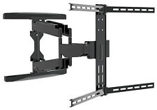 Dual Pivot Curved TV Television Tilt & Swivel Wall Mounting Bracket 37-80 inches