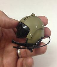 MINIATURE CUSTOM VIETNAM HELICOPTER PILOT HELMET w MICROPHONE NAM DML 1/6 SCALE
