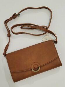 Universal Thread Crossbody Bag Blush w/Brass Ring Purse Handbag Adj. Straps NWT