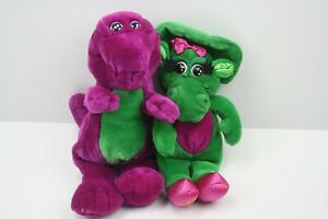 Vintage 1992 Barney the Dinosaur & Baby Bop Plush Stuffed Animal