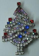 Christbaum Strass Brosche Weihnachtsbaum Christmas tree Brooch Gablonz Nr.62