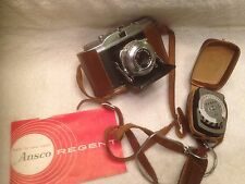 Vintage Ansco Regent 35 mm Camera w/Leather Case & Argus L3 Light Exposure Meter