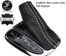 WHITE STITCH AUTOMATIC LEATHER SHIFT BOOT FOR MERCEDES CLK W209 2002-2009