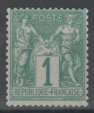 "FRANCE STAMP TIMBRE N° 61  "" TYPE SAGE 1 c VERT 1876 "" NEUF xx TTB SIGNE  N363"