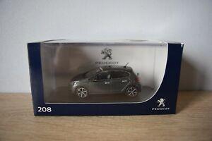 MINIATURE Peugeot 208 GT Line 5 portes 1/43 Ice Silver - neuve