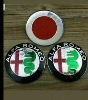 BOOT + BONNET Alfa Romeo Badge 74mm FRONT BACK GT 147 156 159 Giulietta GIULIA