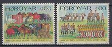 Färöer 1994 ** Mi.270/71 Tiere Animals | Gänse Goose | Pferde Horses