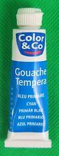 Color & Co  Gouache Tempera Farbe, primär blau, 1 Tube 10 ml