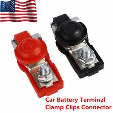 US 2 Adjustable Auto Car Battery Terminal Clamp Clip Connector Positive Nagative