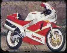 Bimota Yb4 E.I. Sp A4 Metal Sign Motorbike Vintage Aged