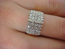 14K YELLOW GOLD 1 CT 5 ROW DIAMONDS LADIES PYRAMID RING 4.5 GRAMS SIZE 8.75