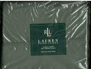 Ralph Lauren Classic Sheet Forest Green Full Flat Sheet Solid New 1st Quality