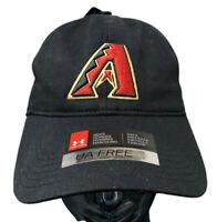 Under Armour MLB Arizona Diamondbacks Black Strapback Baseball Hat Cap NEW!