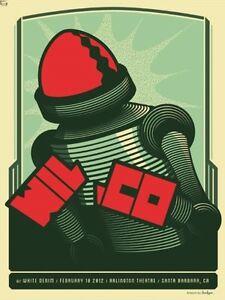 Wilco Gig Poster, Santa Barbara 2012 (Original Silkscreen) 18 x 24' Print