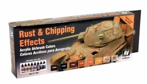 VAL71186 - AV Vallejo Model Air Set - Rust and Chipping Effects