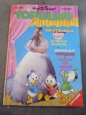 TOPOLINO n° 1774 del 26 NOVEMBRE 1989 con CARTELLA TOMBOLA ALLEGATA