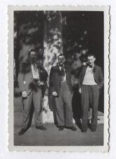 PHOTO ANCIENNE ANONYME Homme Man Gay Interest 1930 Groupe Trois Jeu de lumière