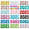 16/32/40 Inch Multi-Color 2021 Digital Aluminum Foil Balloon Party Decoration 2