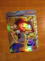 NM FULL ART Pokemon BREEDER Card SHINING LEGENDS Set 73/73 Sun Moon Ultra Rare
