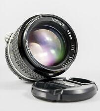 nikon nikkor 85mm f/2.0 lens manual focus F mount