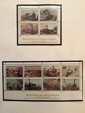 Ireland Stamps Railway Preservation Society of Ireland 2 sheets MNH 1981-85