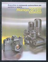 Catalogue appareil photo MAMIYA ZE catalog Katalog