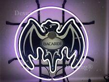 "New Bacardi Rum Bar Neon Sign 17""x17"" with HD Vivid Printing Technology"