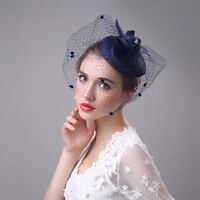 Women Formal Western Elegant Ladies Veil Banquet Small Noble Hat Linen Hat