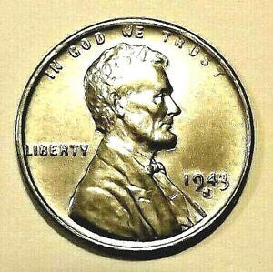 """1943-S Lincoln Wheat 1c""""MATTE STRIKE""""UNC~CHOICE~STEEL-ZINC""""Original.75c S&H+COMB"""
