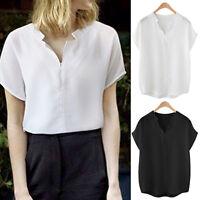 New Women Ladies Casual Top Blouse Short Sleeve AU Size 12 14 16 18 20 22 #1266