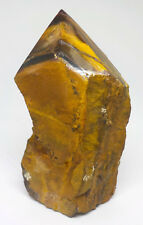 TIGERS EYE NATURAL POINT  A-GRADE GEMSTONE  135mm SOUTH AFRICA fj215