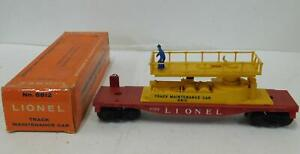 LIONEL 6812 TRACK MAINTENANCE CAR RED/YELL