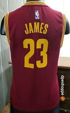 Cleveland Cavaliers LeBron James #23 Adidas Basketball Jersey Youth M 10/12 Note