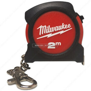 Milwaukee* 48-22-5507 2M Keychain Measure Tape 48225507 Worldwide Shipping