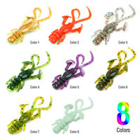 10Pcs 50mm Soft Lures Worm Fishing Lures Bass Pike Minnow Artificial Crankbait