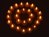 25 Flickering Light Flameless LED Tea Light Wedding Party Home Decor Tea Candles